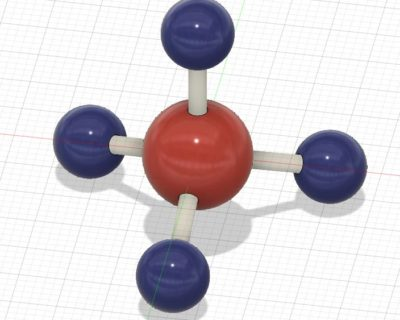 العلوم- مركب جزيء الميثان