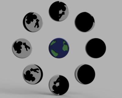 أطوار القمر | جغرافية