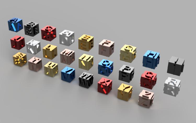 ABC Letters Cube