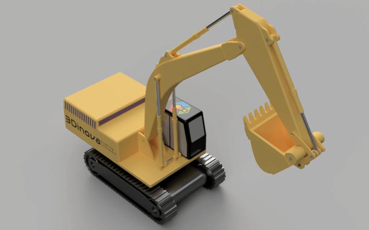 Excavator Render5